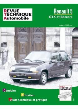 RTA518 RENAULT 5 GTX ET BACCARA BV MANUELLE (1987-90)