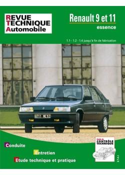 RTA423 RENAULT 9 ET 11 ESSENCE (1100, 1200, 1400) (1982-89)