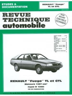 RTA406 RENAULT FUEGO TL (FIN DE FAB°) GTL JUSQU'A 1982 1397 CM3