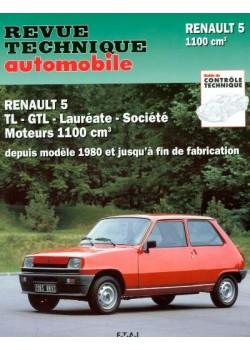 RTA397 RENAULT 5TL, GTL MOTEUR 1100 (1980-85)