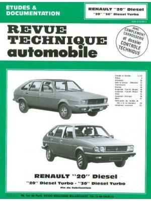 RTA409 RENAULT 20D, 20D TURBO, 30TD TURBO 1980-84