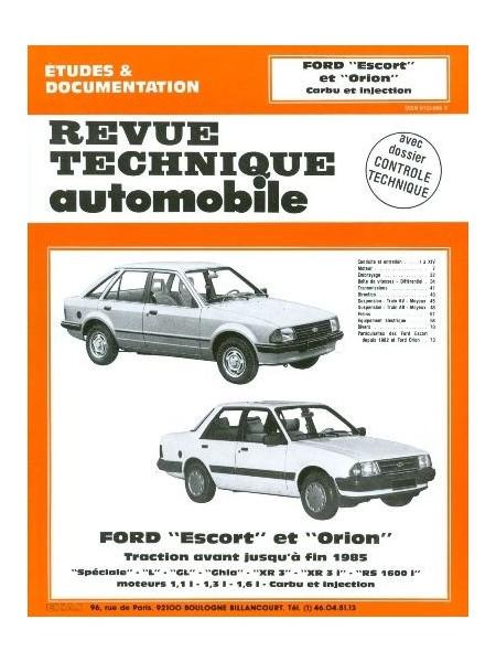 RTA410 FORD ESCORT ORION TRAC. AV CARBU-INJ 1980-84