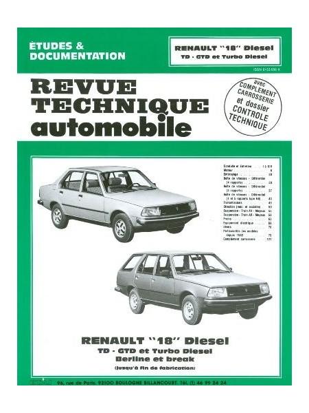 RTA415 RENAULT 18 DIESEL ET TURBO DIESEL (1980-86)
