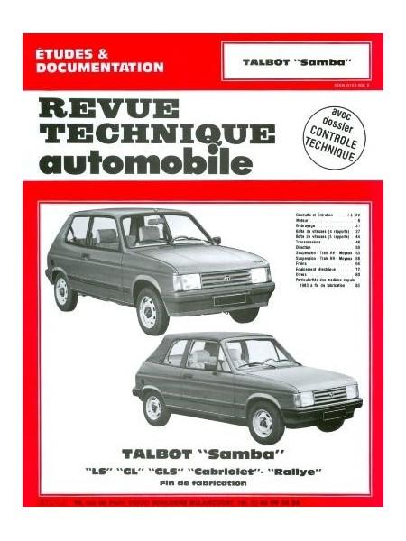 RTA422 TALBOT SAMBA TOUS TYPES 1982-86