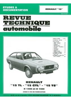 RTA313 RENAULT 15 TL, GTL, TS 1972-79
