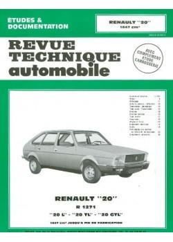 RTA362 RENAULT 20L, TL, GTL 1976-82