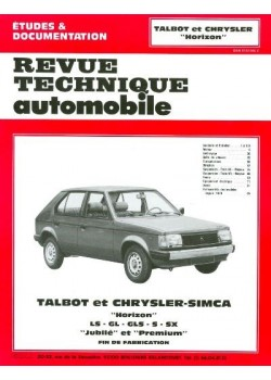 RTA380 TALBOT HORIZON TOUS MODELES ESSENCE 1978-85