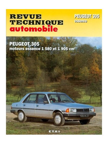 RTA441 PEUGEOT 305 GR, SR (1986-1989) GT, GTX, AUTO (1983-89)