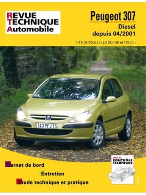 RTA678 PEUGEOT 307 HDI 1.4 (70CH), 2.0 (90 ET 110 CH) DEPUIS 04/2001
