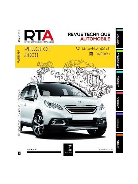 RTA809 PEUGEOT 2008 1.6 e-HDi 92 ch DEPUIS 01/2013