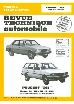 RTA381 PEUGEOT 305GL (1978-89), GR, SR JUSQU'A 1985