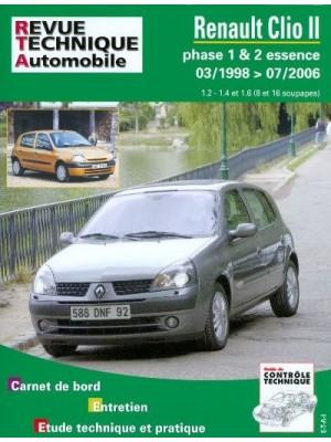 RTA116 RENAULT CLIO II PHASE 1 ET 2 ESSENCE DE 03/1998 A 07/2006