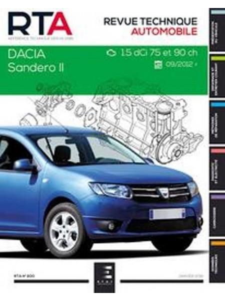 RTA800 DACIA SANDERO II :1.5 DCI(75 et 90ch)depuis 10/2012