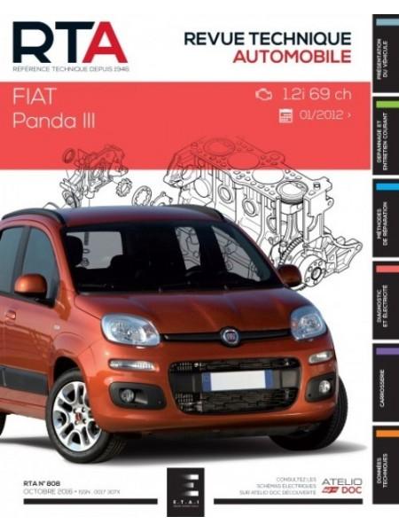 RTA808 FIAT PANDA III 1.2 i (69ch) depuis 01/2012