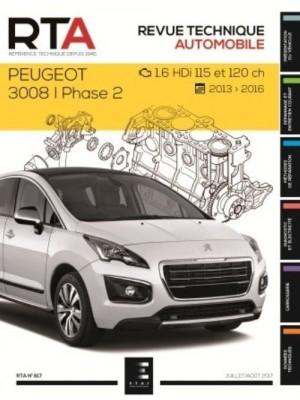 RTA817 PEUGEOT 3008 I PH.2 : 1.6HDi (115&120 ch)(2013 à 2016)
