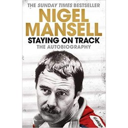 NIGEL MANSELL STAYING ON TRACK