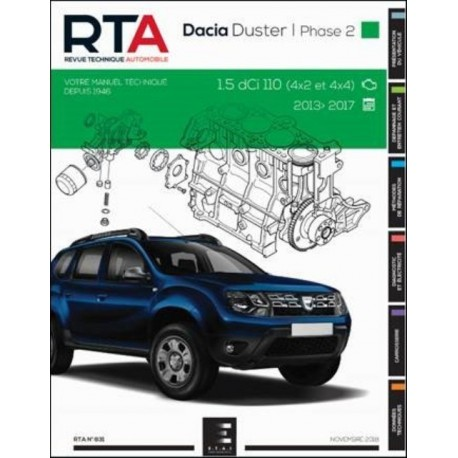 RTA831 DACIA DUSTER BREAK I Ph.2 1.5DCi 110ch 4x2 & 4x4 2013-17