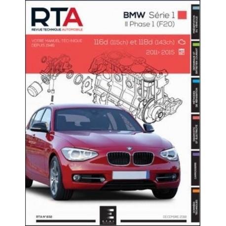 RTA832 BMW SERIE 1 II Ph1 (F20) 116d(115ch) 118d(143ch) 2011-15