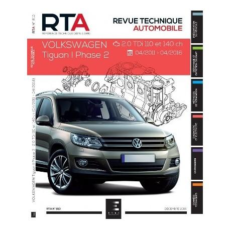 RTA810 VW TIGUAN I PHASE 2 2.0TDI 110 ET 140 CH 04/2011-04/2016