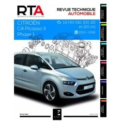RTA824 CITROEN C4 PICASSO II Ph.1 1.6HDi 92-120ch 2013-16