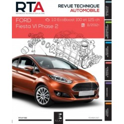 RTA812 FORD FIESTA VI Ph.2 1.0i 100ch DEP. NOV. 2012