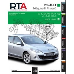 RTA839 RENAULT MEGANE III PH.1 1.5dCi 85-90-105ch 1.9dCi 130ch 08-12