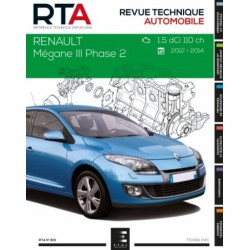 RTA801 RENAULT MEGANE III PHASE 22 1.5dCi 110ch 2012-14