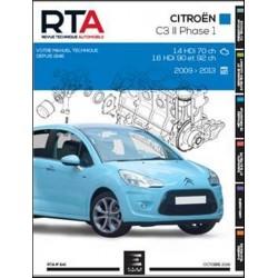 RTA841 CITROEN C3 III Ph.1 1.4HDi 70ch 1.6HDi 90-92ch 2009-13