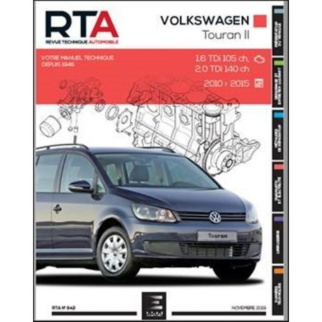 RTA842 VOLKSWAGEN TOURAN II 1.6TDi 105ch-2.0TDi 140ch 2010-15