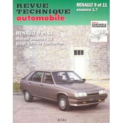 RTA443 RENAULT9 ET 11 (MOTEUR 1721) (1983/89)