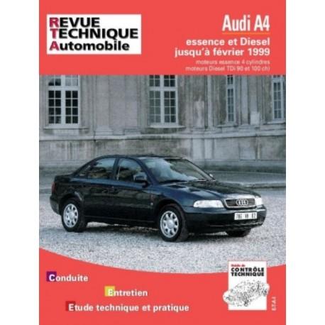 RTA581 AUDI A4 4 CYL. ESS/DIESEL-DI-TDI 90 ET 110 CH JUSQU'A 02/1999