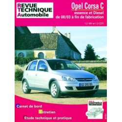 RTA692 OPEL CORSA C E & D 1.2 16V ET 1.3 CDTI DE 08/2003 A FIN FAB