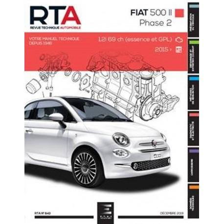 RTA843 FIAT 500 II Ph.2 1.2i 69ch (ESS. & GPL) DEPUIS 2015