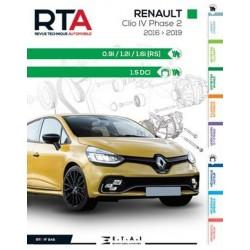 RTA848 RENAULT CLIO IV Ph.2 0.9i, 1.2i, 1.6i (RS) ET 1.5DCi 2016-2019