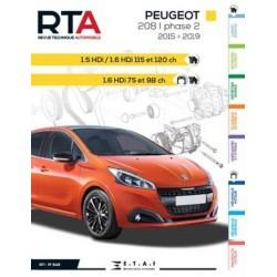 RTA849 PEUGEOT 208 Ph.2 1.5HDi, 1.6HDi 75-98-115-120ch 2015-19