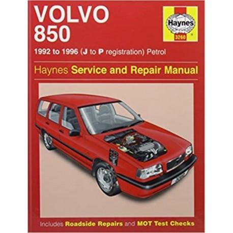 VOLVO 850 PETROL 1992-96 - OWNERS WORKSHOP MANUAL