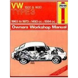 VOLKSWAGEN TYPE 3 1963-73 - 1500 & 1600 - OWNERS WORSHOP MANUAL