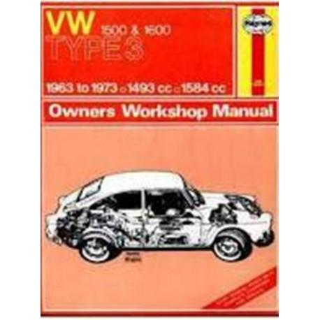 VOLKSWAGEN TYPE 3 1963-73 - 1500 & 1600 - OWNERS WORSHOP MANUAL