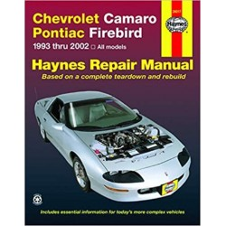 CHEVROLET CAMARO & PONTIAC FIREBIRD 1993-02 - OWNERS WORKSHOP MANUAL