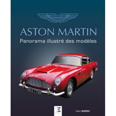 ASTON MARTIN PANORAMA ILLUSTRE DES MODELES