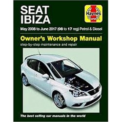 SEAT IBIZA PETROL & DIESEL 08-17 OWNER'S WORKSHOP MANUAL