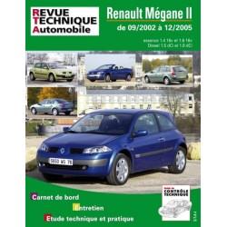 RTA121 RENAULT MEGANE 2 ESSENCE ET DIESEL DE 9/02 A 12/05