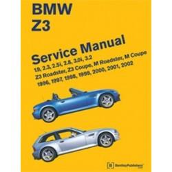 BMW Z3 ROADSTER SERVICE MANUAL 1996-2002