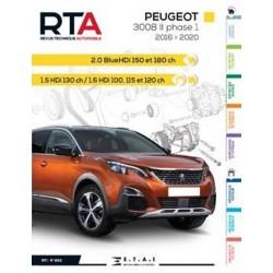 RTA852 PEUGEOT 3008 II PHASE I (2016 A 2020) - Diesel