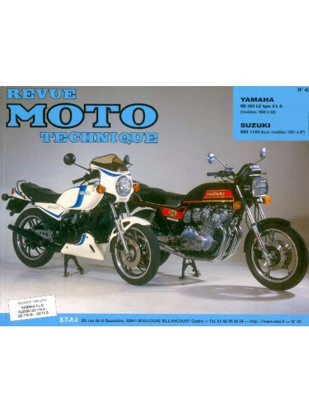 RMT40 YAMAHA RD 350 LC/SUZUKI GSX 1100 E (80/86)
