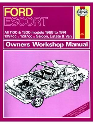 FORD ESCORT MKI 1100 & 1300 1968-74 - OWNERS WORKSHOP MANUAL