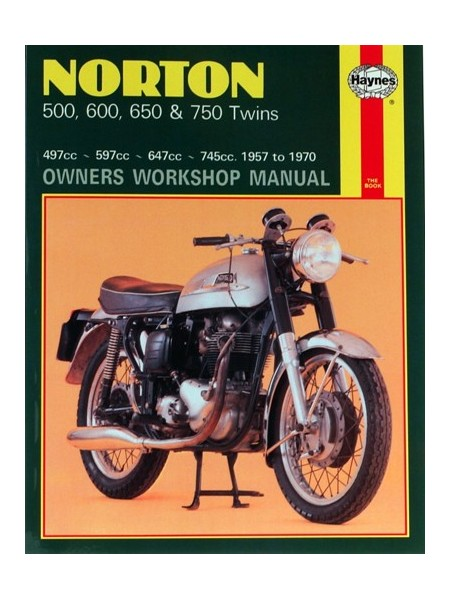 NORTON 500 600 650 & 750 TWINS (1957-70) - OWNERS WORSHOP MANUAL