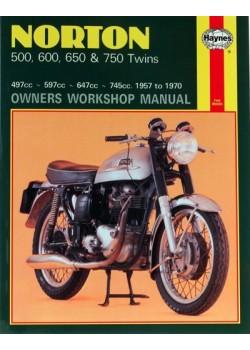 NORTON 500 600 650 & 750 TWINS (1957-70) - OWNERS WORSHOP MANUAL