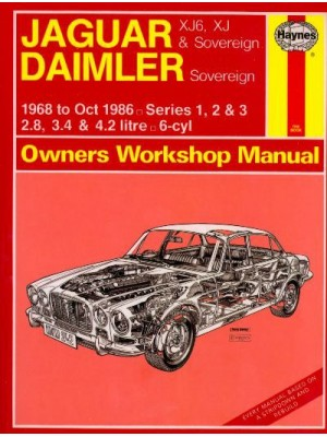 JAGUAR XJ6 & SOVEREIGN 1968-86 - OWNERS WORKSHOP MANUAL