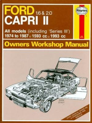 FORD CAPRI II 1.6 & 2.0 1974-87 - OWNERS WORKSHOP MANUAL